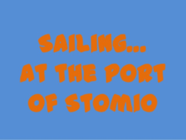 Sailing… at the port of Stomio