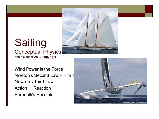 SailingConceptual Physicsannie cloutier 2012 copyrightWind Power is the ForceNweton's Second Law F = m aNewton's Third Law...
