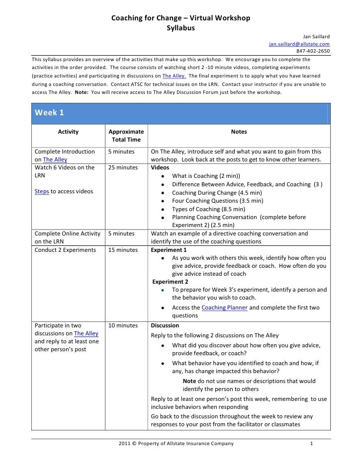 CETS 2011, Jan Saillard, syllabus handout for How to Create a Course from Short Self-Directed Learning Materials