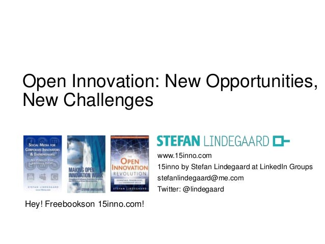 SA Innovation Summit 2013: Open Innovation - New Opportunities, New Challenges