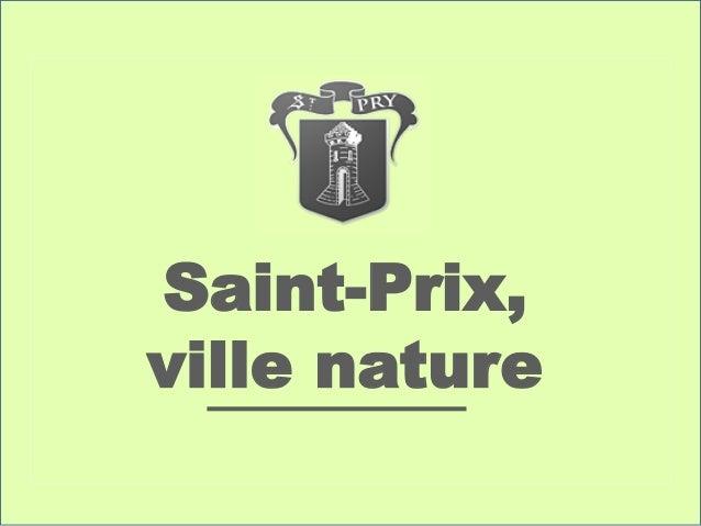 Saint-Prix, ville nature