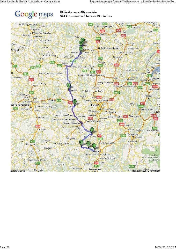 Saint-Sernin-du-Bois à Alboussière - Google Maps                       http://maps.google.fr/maps?f=d&source=s_d&saddr=St+...