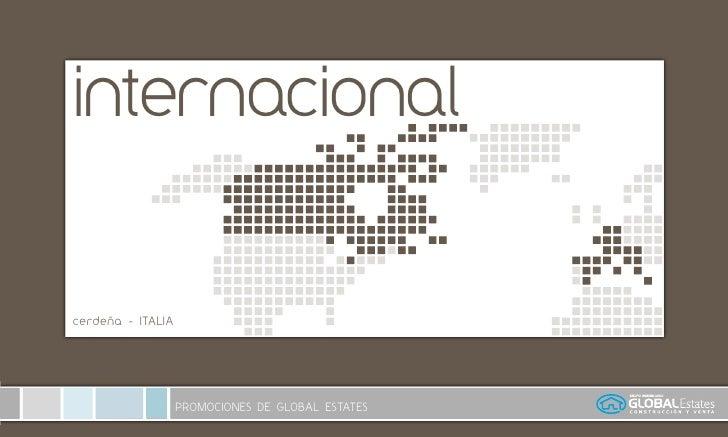 internacional   cerdeña - ITALIA                        PROMOCIONES DE GLOBAL ESTATES
