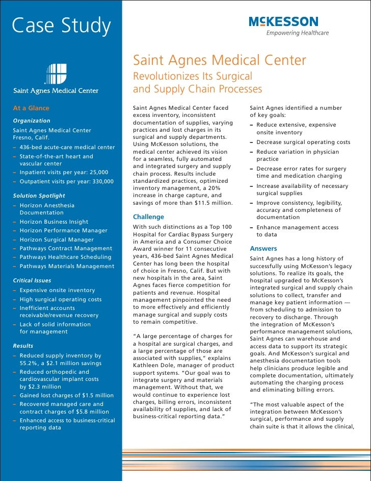 Case Study                                         Saint Agnes Medical Center                                         Revo...
