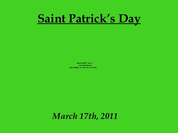 Saint Patrick's Day March 17th, 2011
