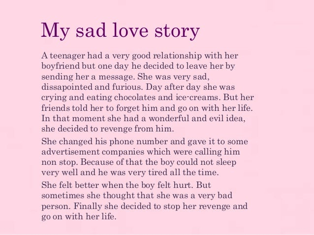 short story on love relationship A story about love, memory loss and a marathon gweneviere suffered a stroke during an operation in 2008, and now lives without short-term memory in this interview, she and her boyfriend talk about how this works — for better and worse.