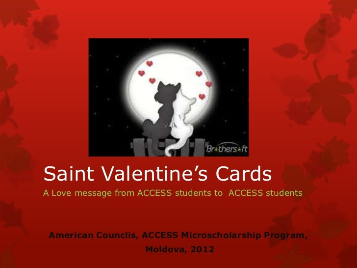 Saint Valentine's cards