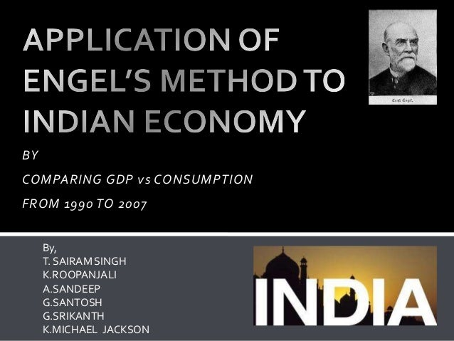 Application of engels law to indian economy