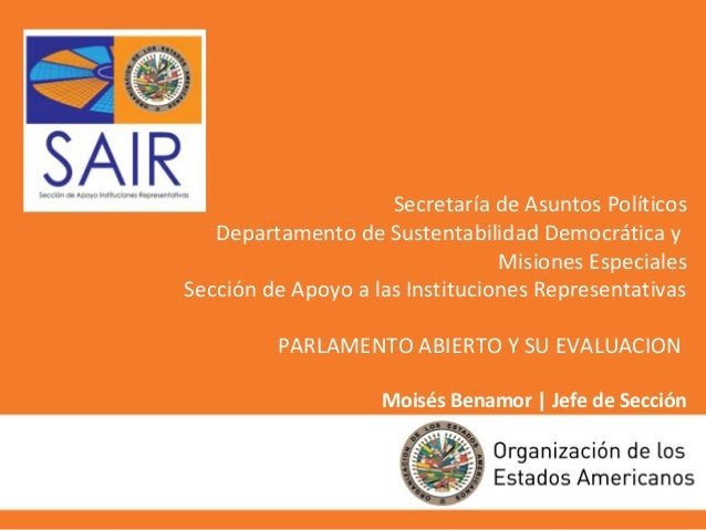 Presentacion SAIR-OEA