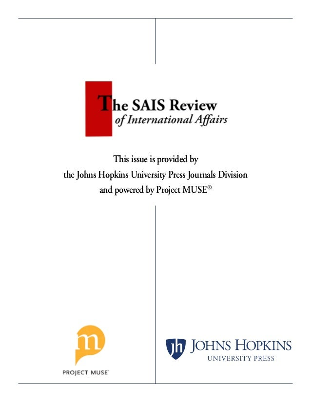 This issue is provided by the Johns Hopkins University Press Journals Division and powered by Project MUSE®