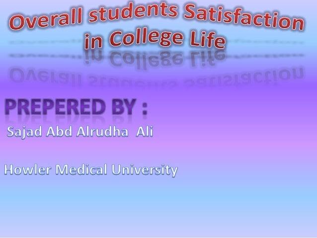 Overall Students Satisfaction with University Life