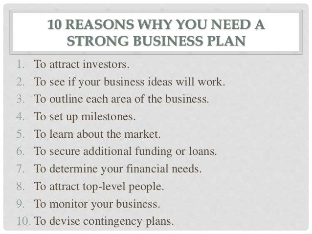 Need business plan