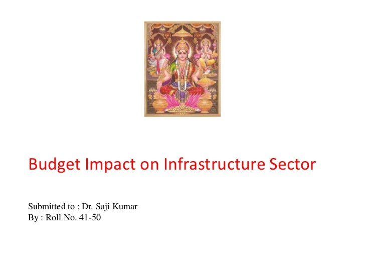 Budget Impact on Infrastructure SectorSubmitted to : Dr. Saji KumarBy : Roll No. 41-50