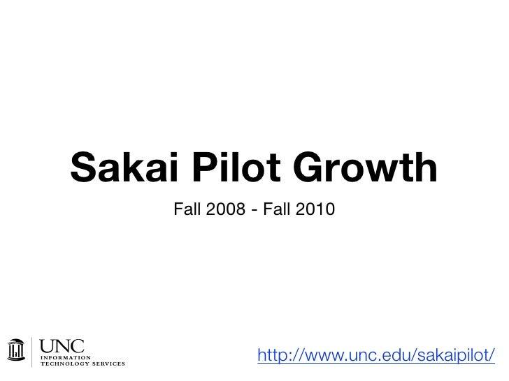 Sakai Pilot Growth      Fall 2008 - Fall 2010                    http://www.unc.edu/sakaipilot/