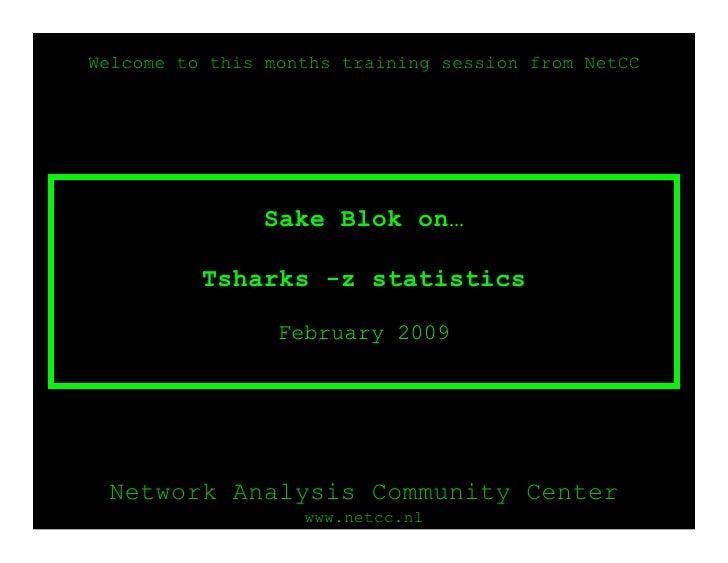 OSTU - Sake Blok on TShark Statistics