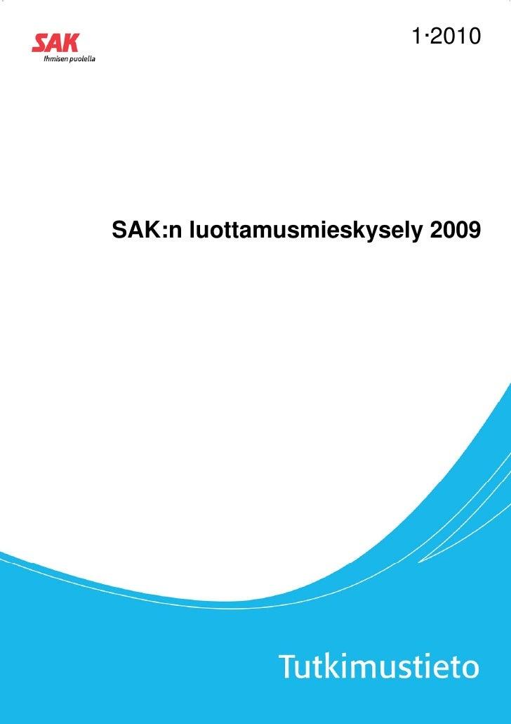 1·2010SAK:n luottamusmieskysely 2009