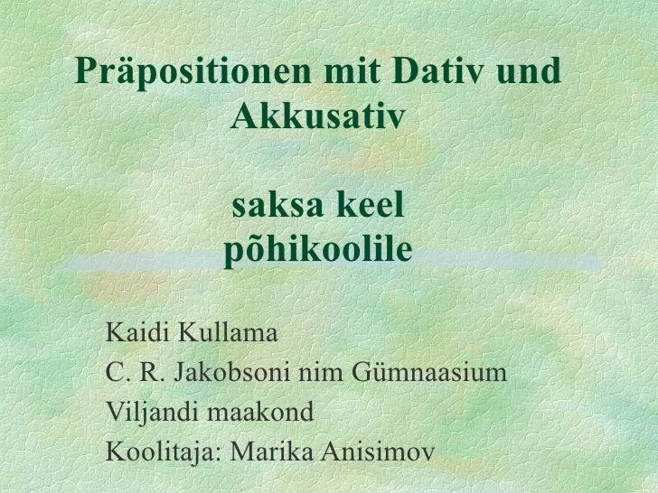 Saksa keel prapositionen (1)