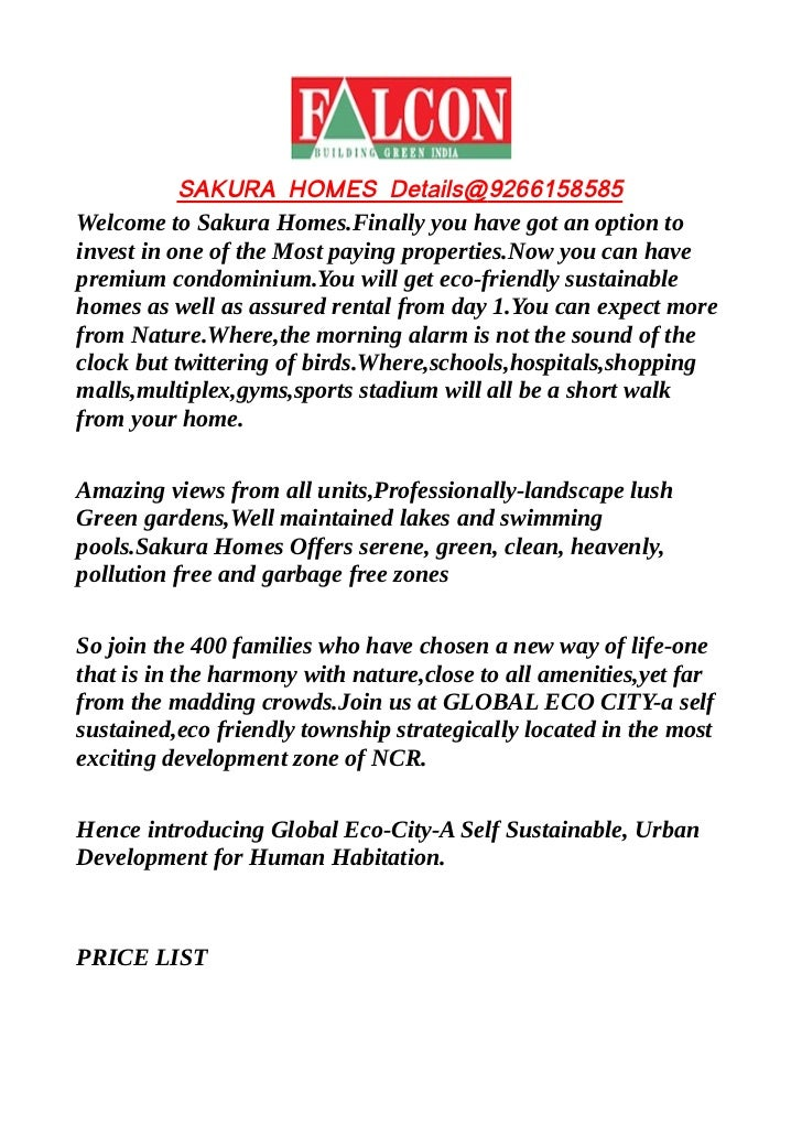 SAKURA HOMES Details@9266158585Welcome to Sakura Homes.Finally you have got an option toinvest in one of the Most paying p...