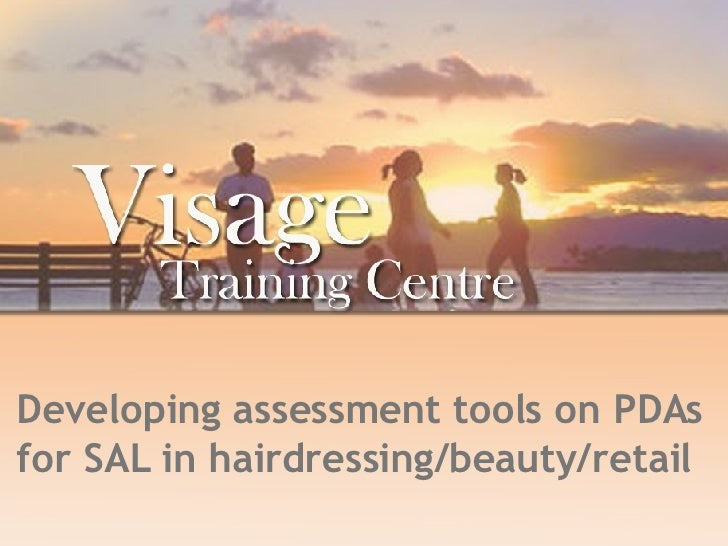 Developing assessment tools on PDAs for SAL in hairdressing/beauty/retail