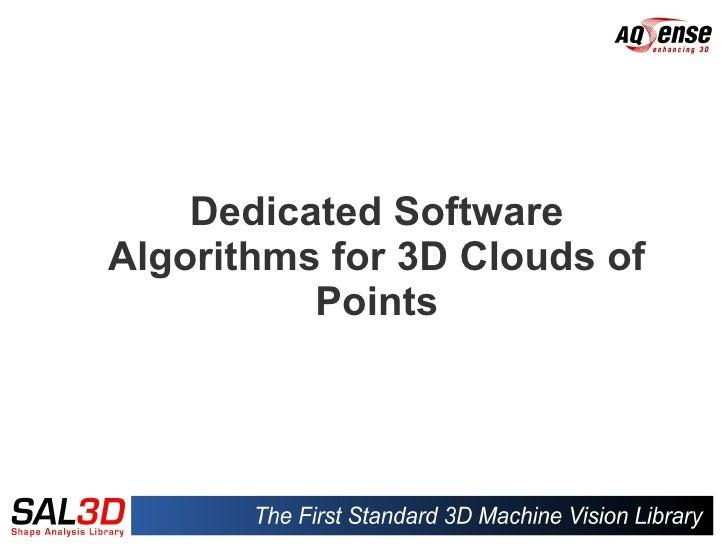 SAL3D presentation - AQSENSE's 3D machine vision library