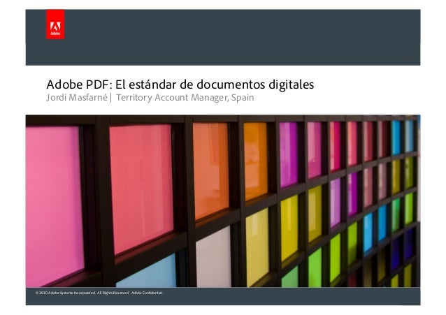 © 2010 Adobe Systems Incorporated. All Rights Reserved. Adobe Confidential. Jordi Masfarné | Territory Account Manager, Sp...