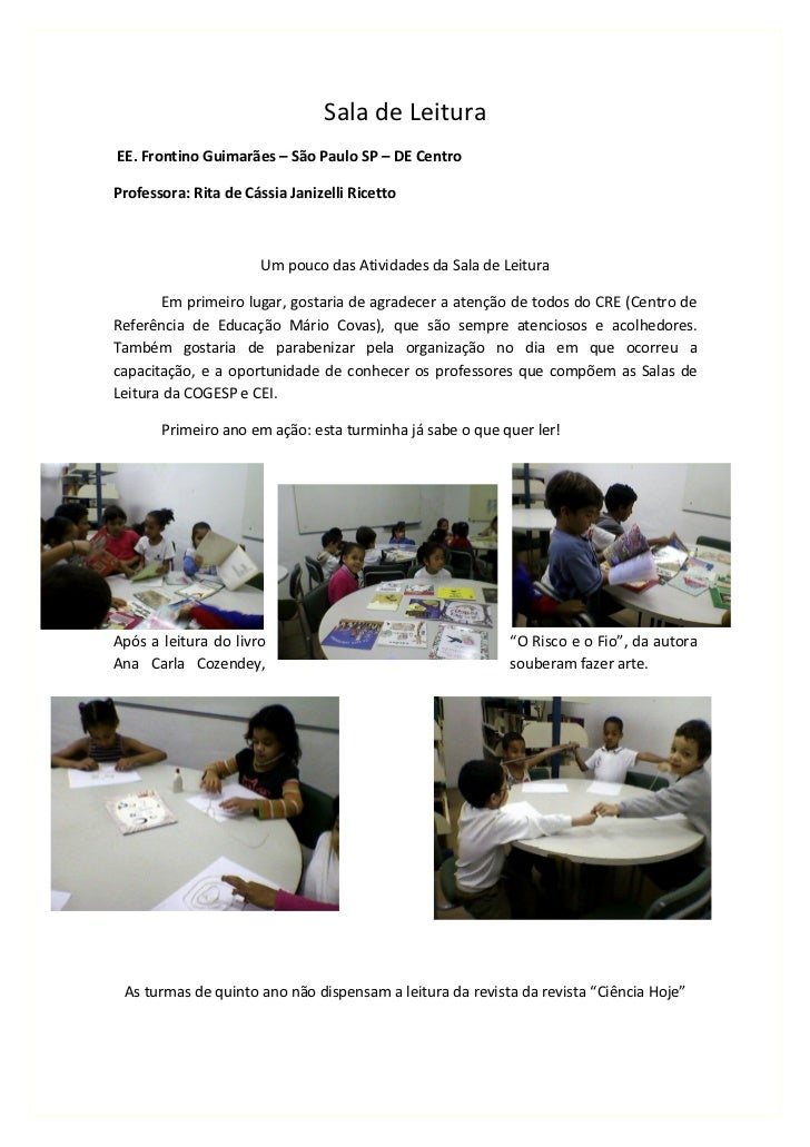 Sala de leitura 2011 frontino