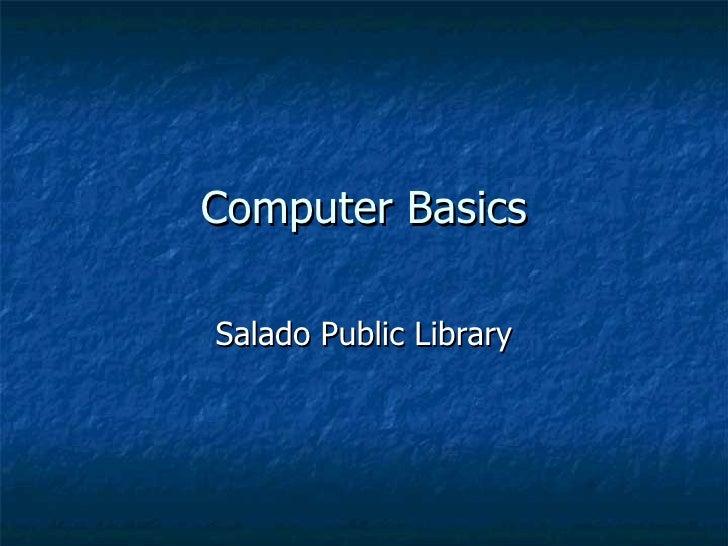 Computer Basics Salado Public Library