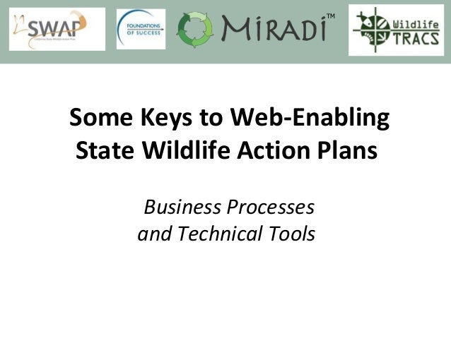 Some Keys to Web-Enabling State Wildlife Action Plans Business Processes and Technical Tools TM