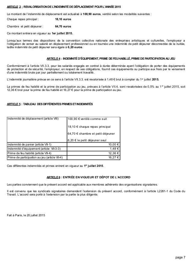 Defraiement Repas Syndeac Pour Un Musicien Document & Notice PDF