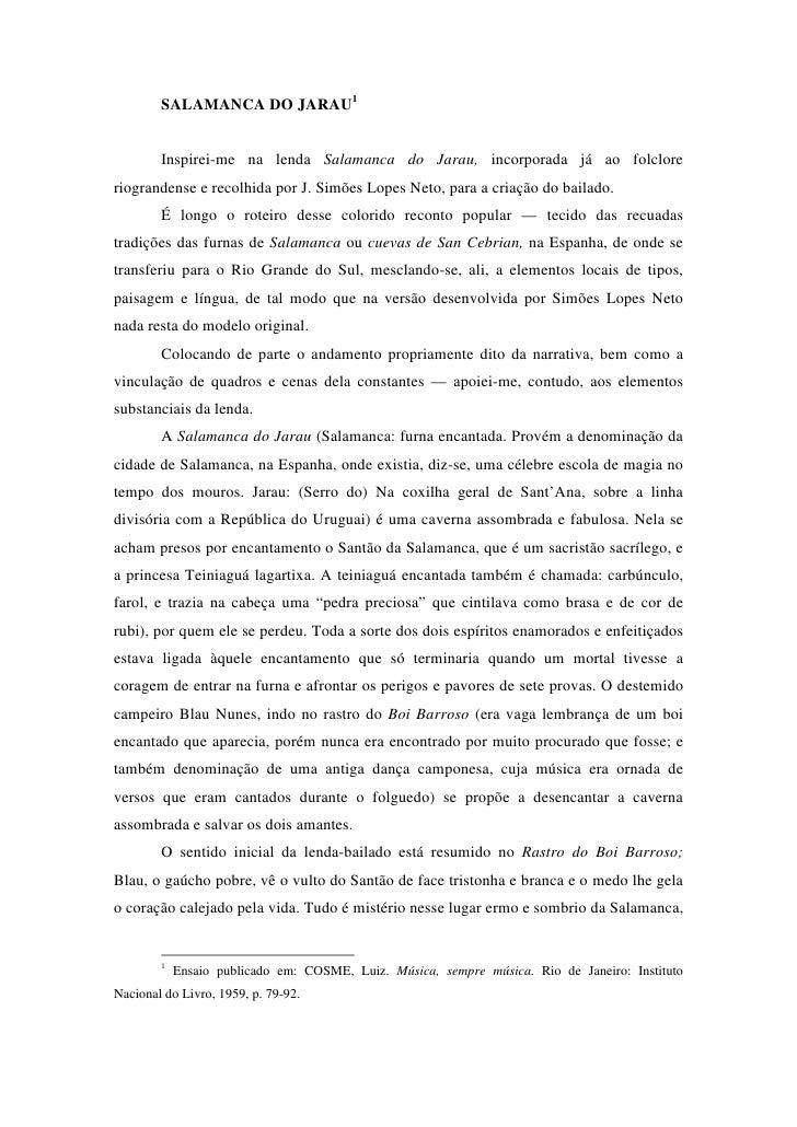 Salamanca do Jarau (Ensaio de Luiz Cosme)