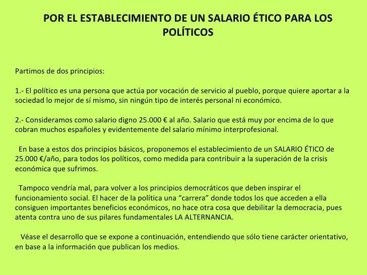 Salario etico