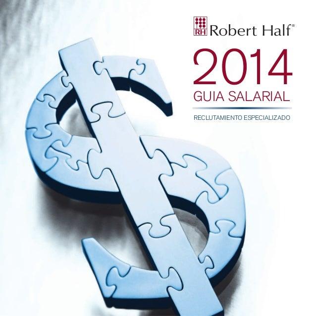 2014 GUIA SALARIAL  RECLUTAMIENTO ESPECIALIZADO