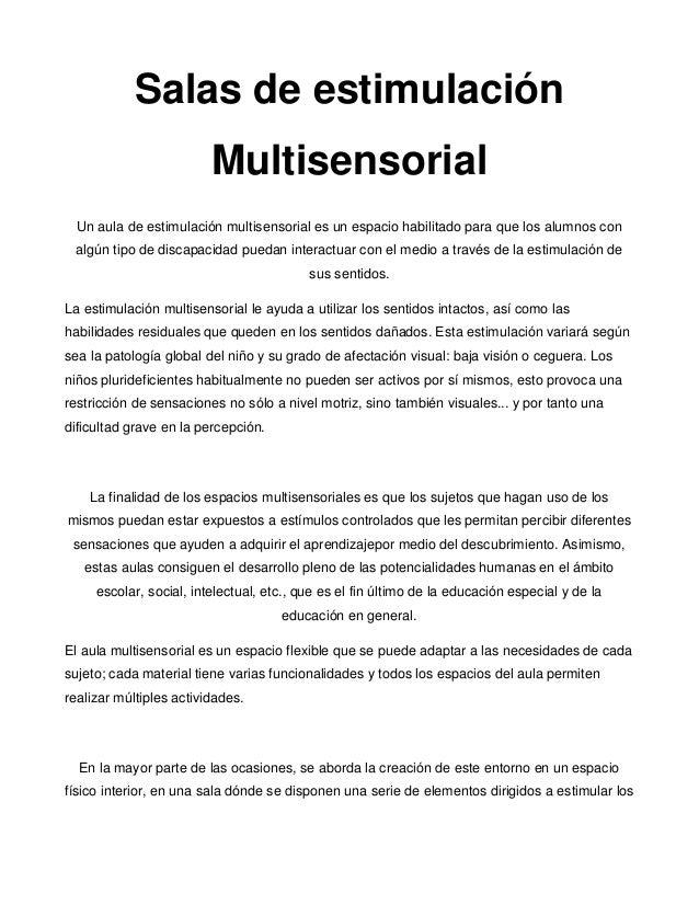 Salas de estimulación multisensorial