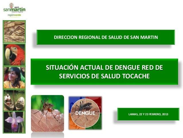DIRECCION REGIONAL DE SALUD DE SAN MARTINSITUACIÓN ACTUAL DE DENGUE RED DE    SERVICIOS DE SALUD TOCACHE                  ...