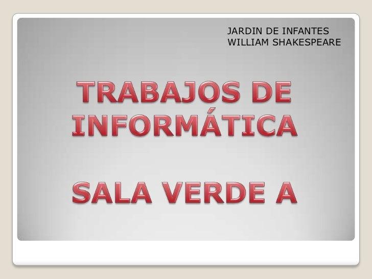 JARDIN DE INFANTESWILLIAM SHAKESPEARE