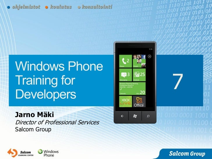 Salcom - Windows Phone 7 Training for Developers