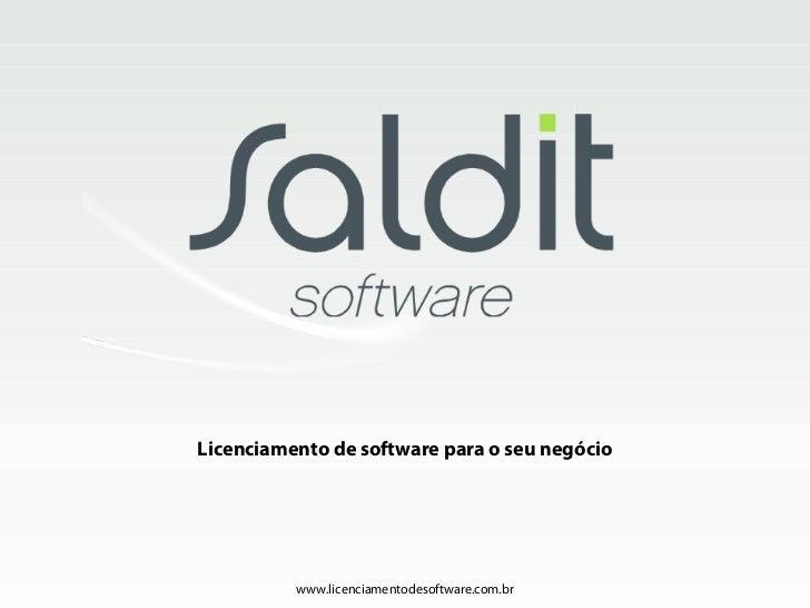 Apresentação Saldit Software