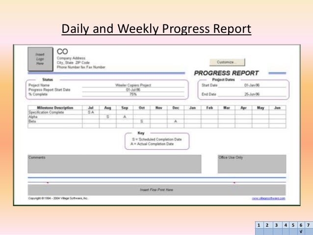 accounting weekly report