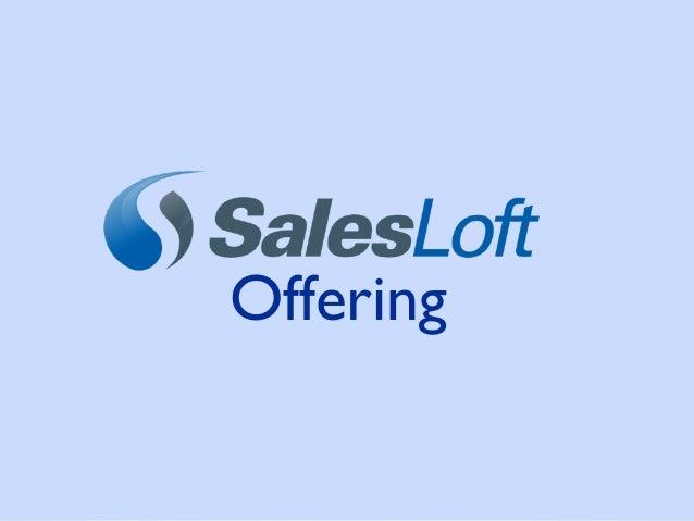 SalesLoft Product Overview