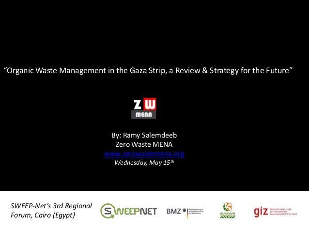 Organic Waste Management in Gaza