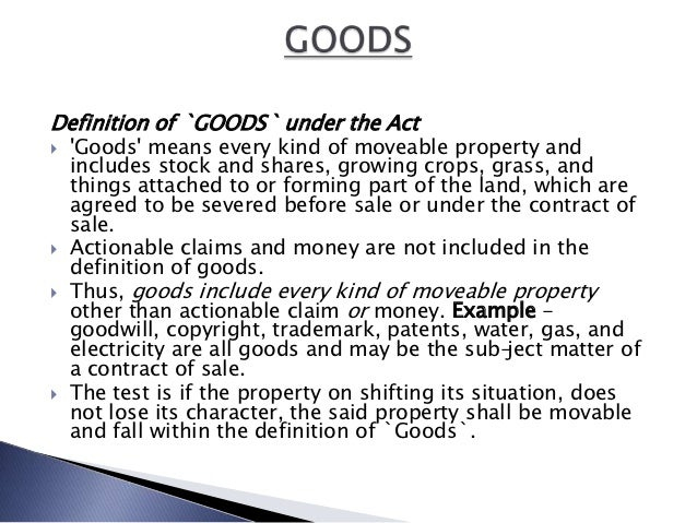 contract of sale of goods act pdf