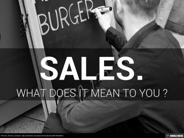 Why Sales Is Not A Dirty Word