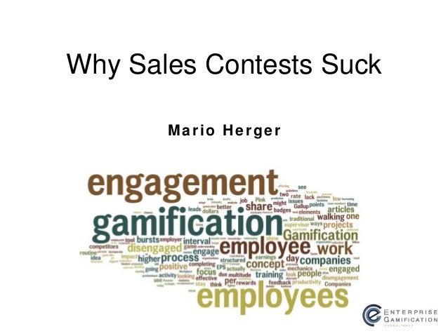Mario Herger Why Sales Contests Suck