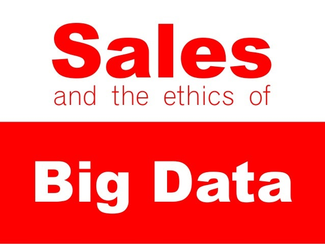 Sales and Big Data