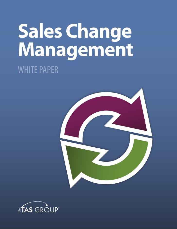 Sales ChangeManagementWHITE PAPER