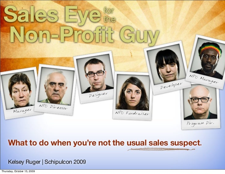 Sales Eye                                         for                                                    the   Non-Profit ...