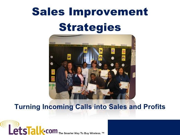 Sales Improvement Strategies