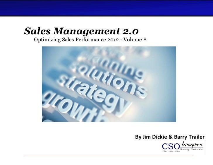 CSO Insights: Sales Management 2.0 eBook - Volume 8