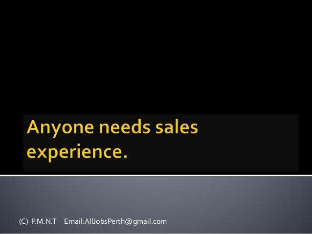 A sales man is a sport man
