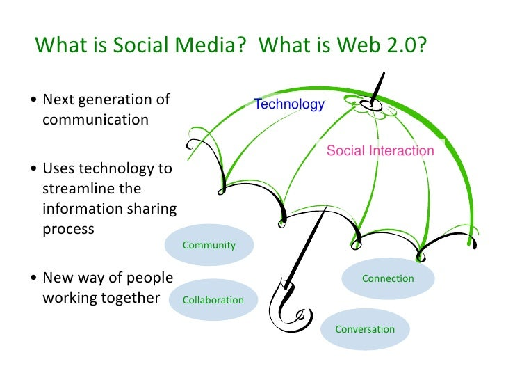 What is Social Media? What is Web 2.0?  • Next generation of                    Technology   communication                ...